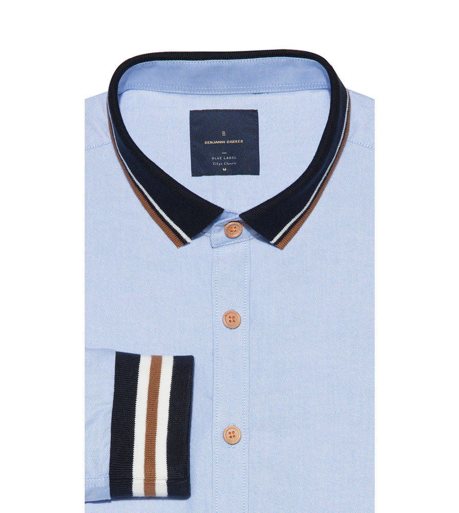 Shichi Oxford Rugby Shirt Folded