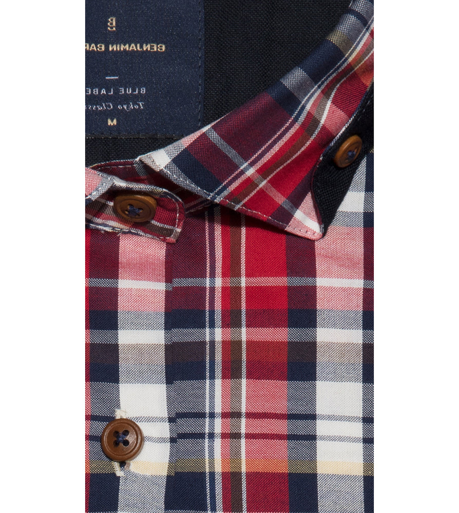 Kitakado Vintage Check Shirt Collar