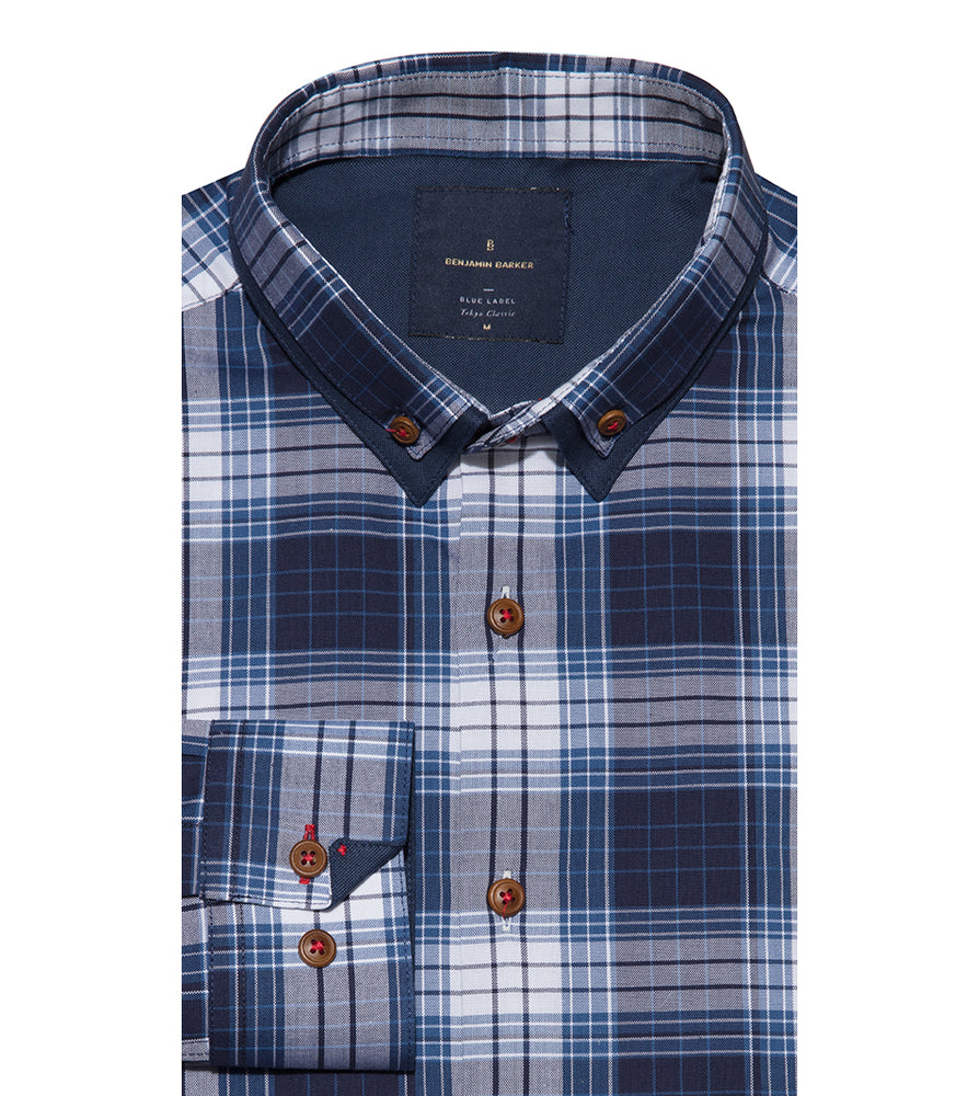 Load image into Gallery viewer, Shindanshi Vintage Check Shirt Folded