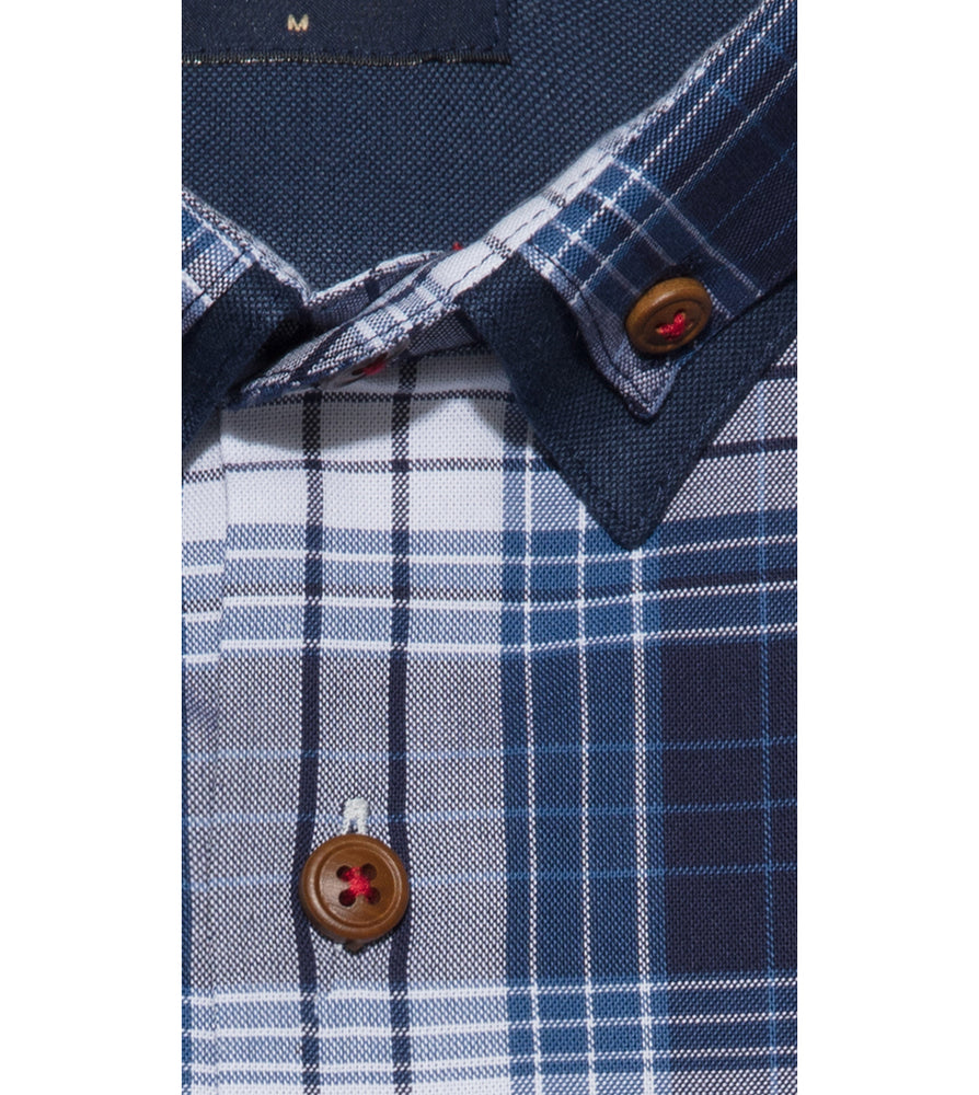 Shindanshi Vintage Check Shirt Collar