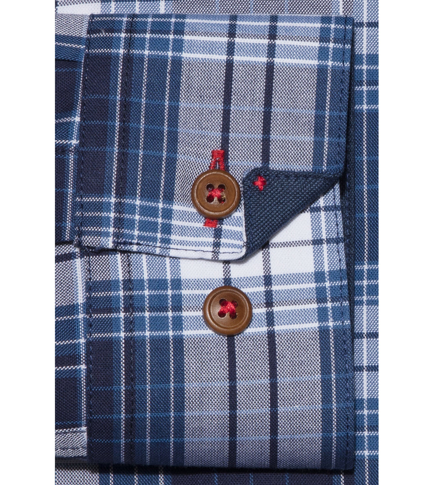 Load image into Gallery viewer, Shindanshi Vintage Check Shirt Cuff