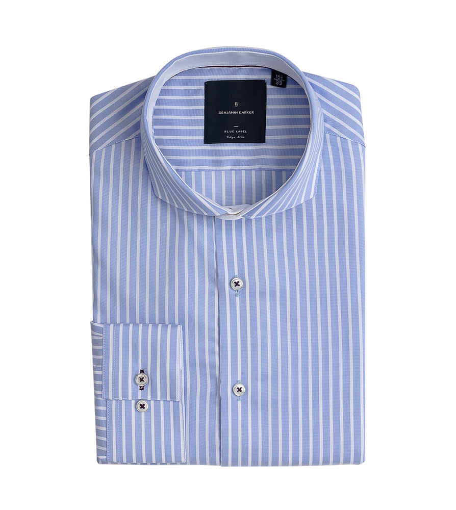 Amami Easy Iron Stripe Shirt Folded