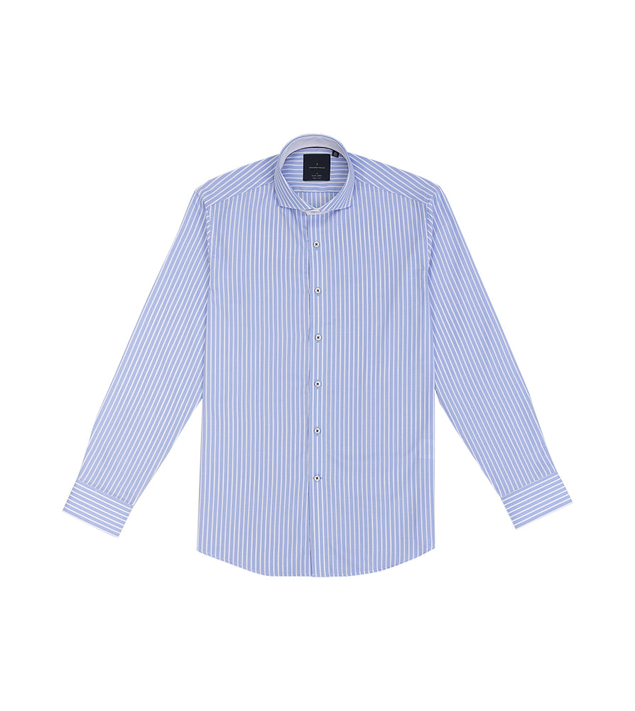 Load image into Gallery viewer, Amami Easy Iron Stripe Shirt Full View