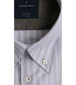 TSUMUGI EASY IRON PENCIL STRIPE SHIRT  Collar