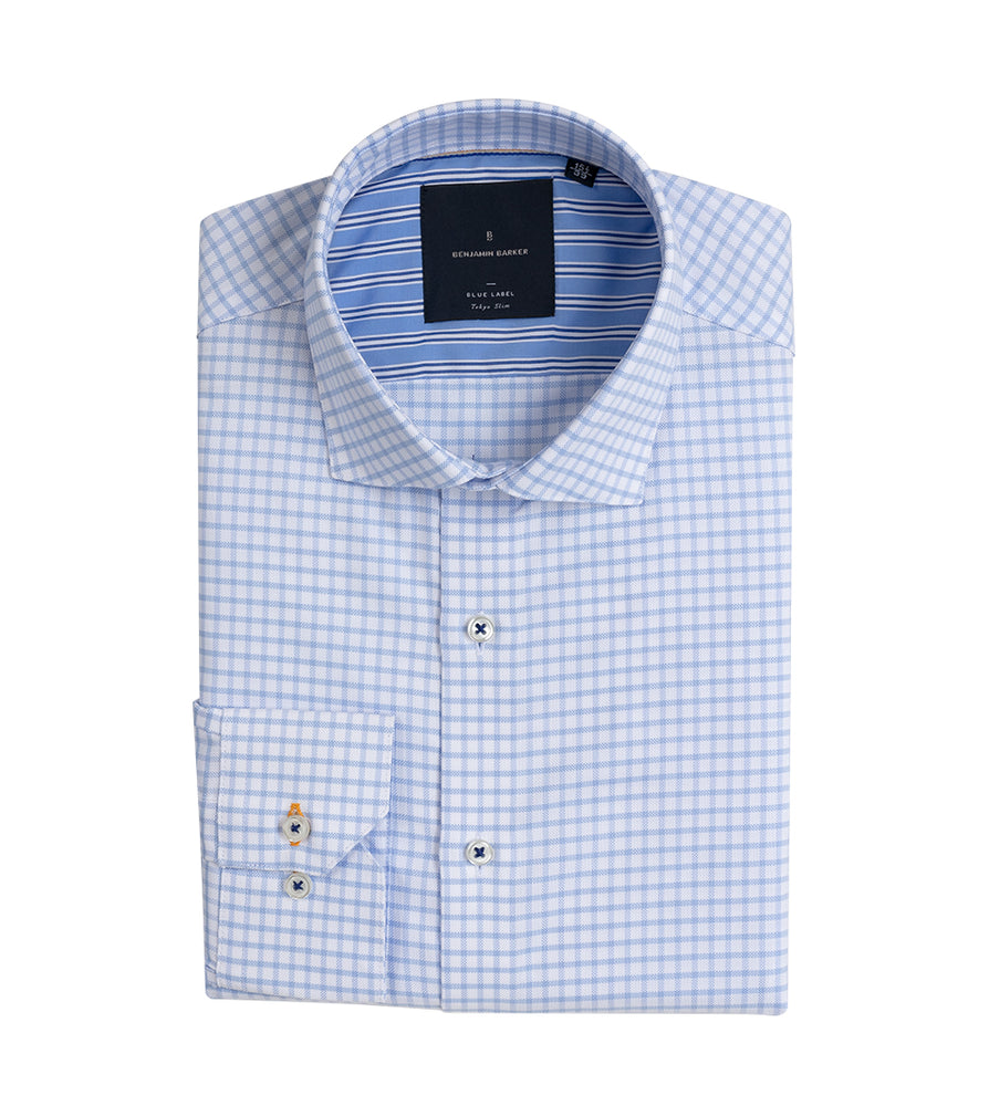 FUTAKO EASY IRON GINGHAM SHIRT Fold