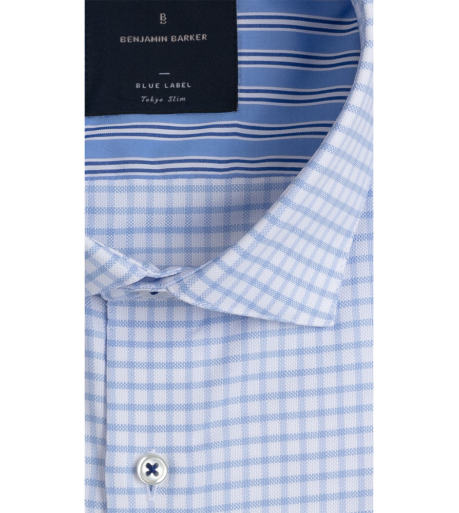 FUTAKO EASY IRON GINGHAM SHIRT  Collar