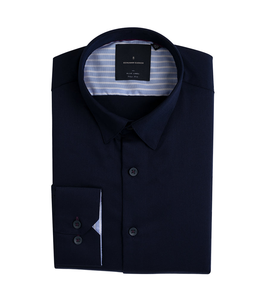 Toshi Easy Iron Pique Shirt Folded