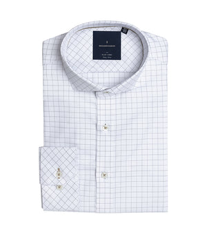 Load image into Gallery viewer, Nouchi Easy Iron Graph Check Shirt Folded