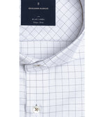Nouchi Easy Iron Graph Check Shirt Collar