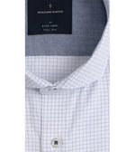Sanzai Easy Iron Graph Check Shirt Collar