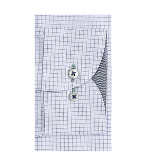 Load image into Gallery viewer, Sanzai Easy Iron Graph Check Shirt Cuff