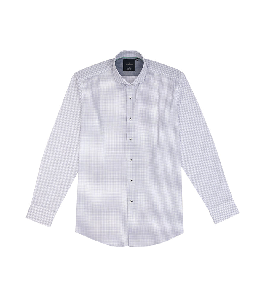 Load image into Gallery viewer, Sanzai Easy Iron Graph Check Shirt Full