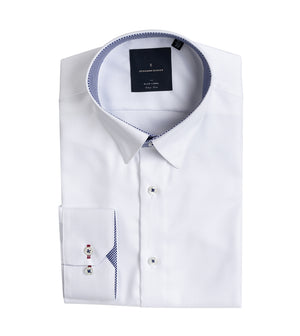Load image into Gallery viewer, Kato Easy Iron French Twill Shirt - Folded