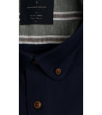 Yasai Washed Oxford Shirt - Collar