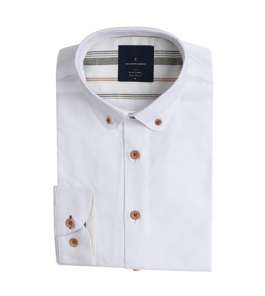 Hajime Washed Oxford Shirt Full