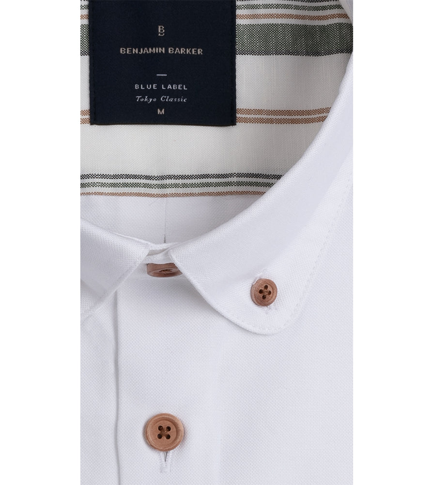 Hajime Washed Oxford Shirt Collar
