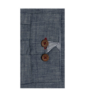 Load image into Gallery viewer, Kenji Textured Chambray Shirt Cuff