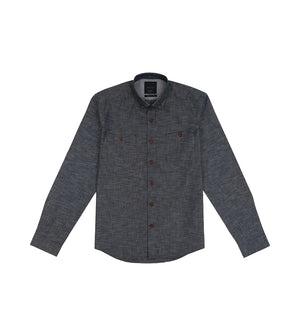 Load image into Gallery viewer, Kenji Textured Chambray Shirt Full