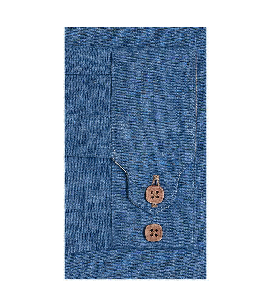 Load image into Gallery viewer, Maru Vintage Chambray Shirt Cuff