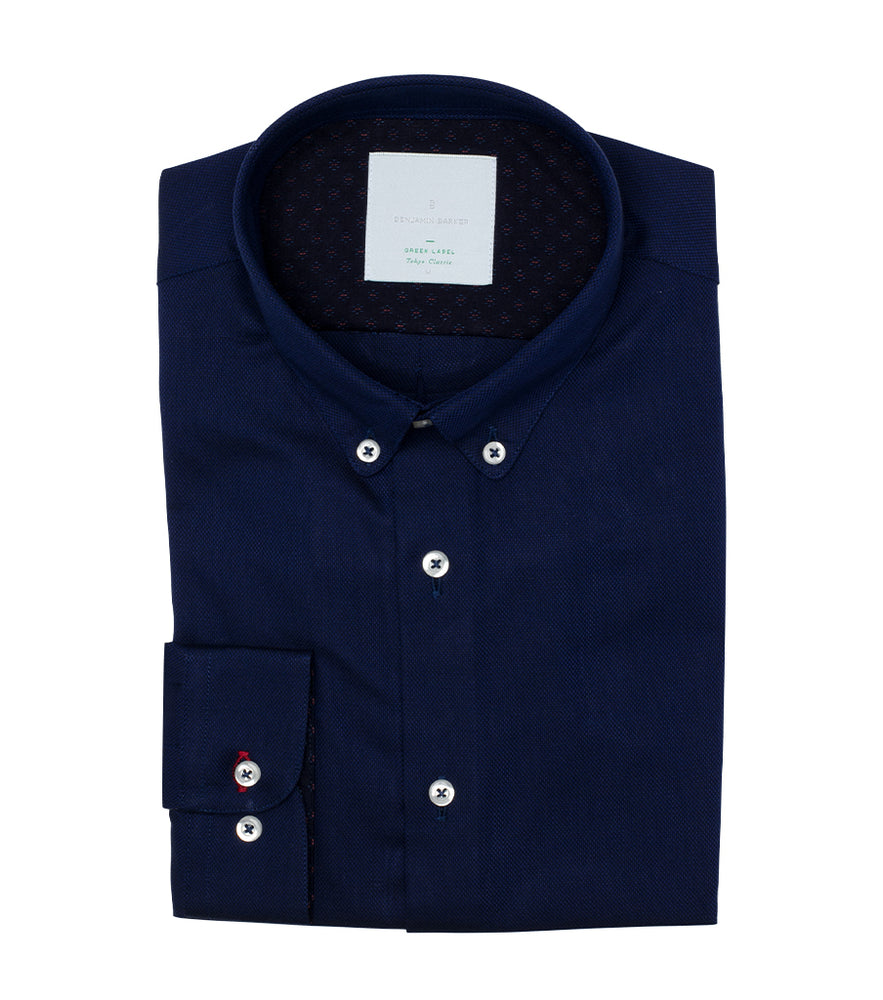 Lyndhurst Textured Birdeye Shirt Folded