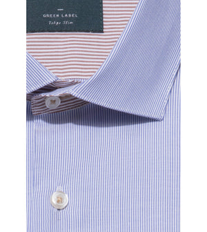Load image into Gallery viewer, Fukay Mille Stripe Shirt Collar