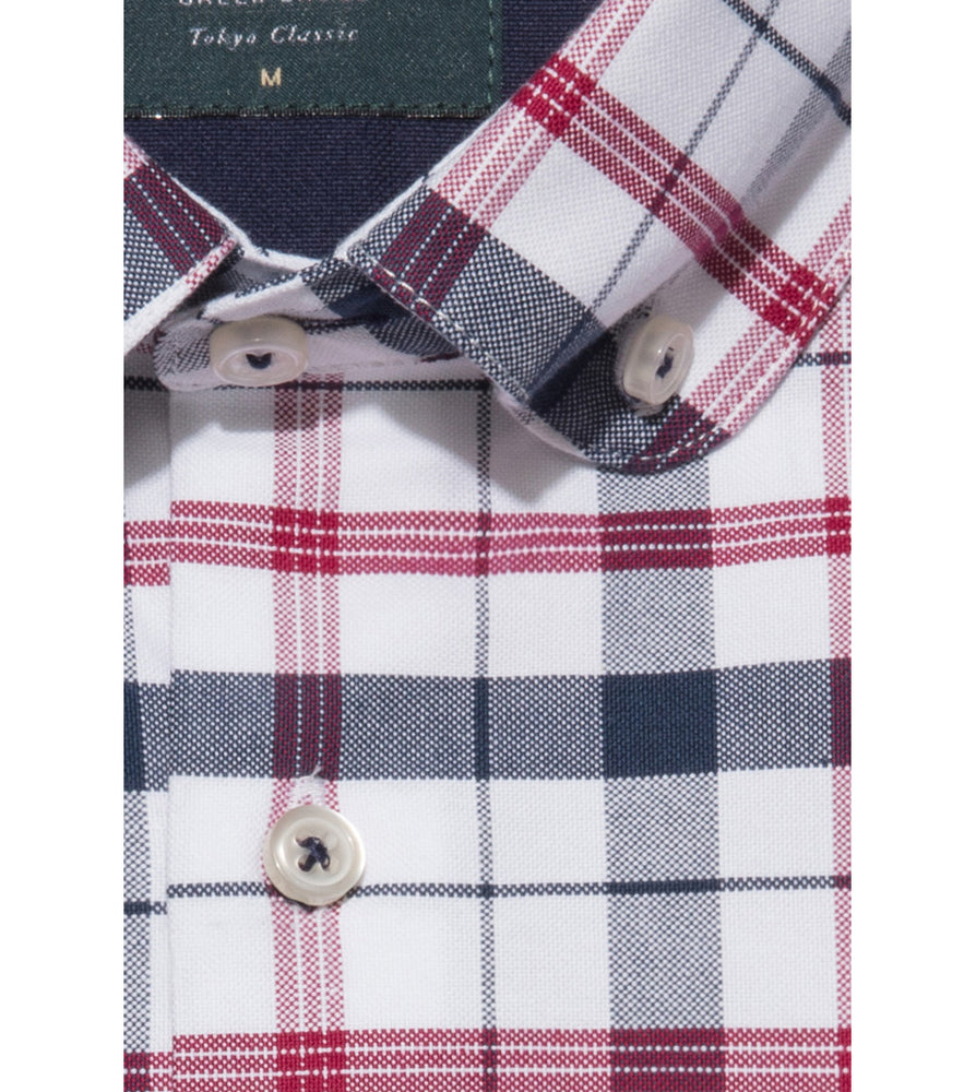 Load image into Gallery viewer, Takaji Vintage Oxford Plaid Shirt Collar