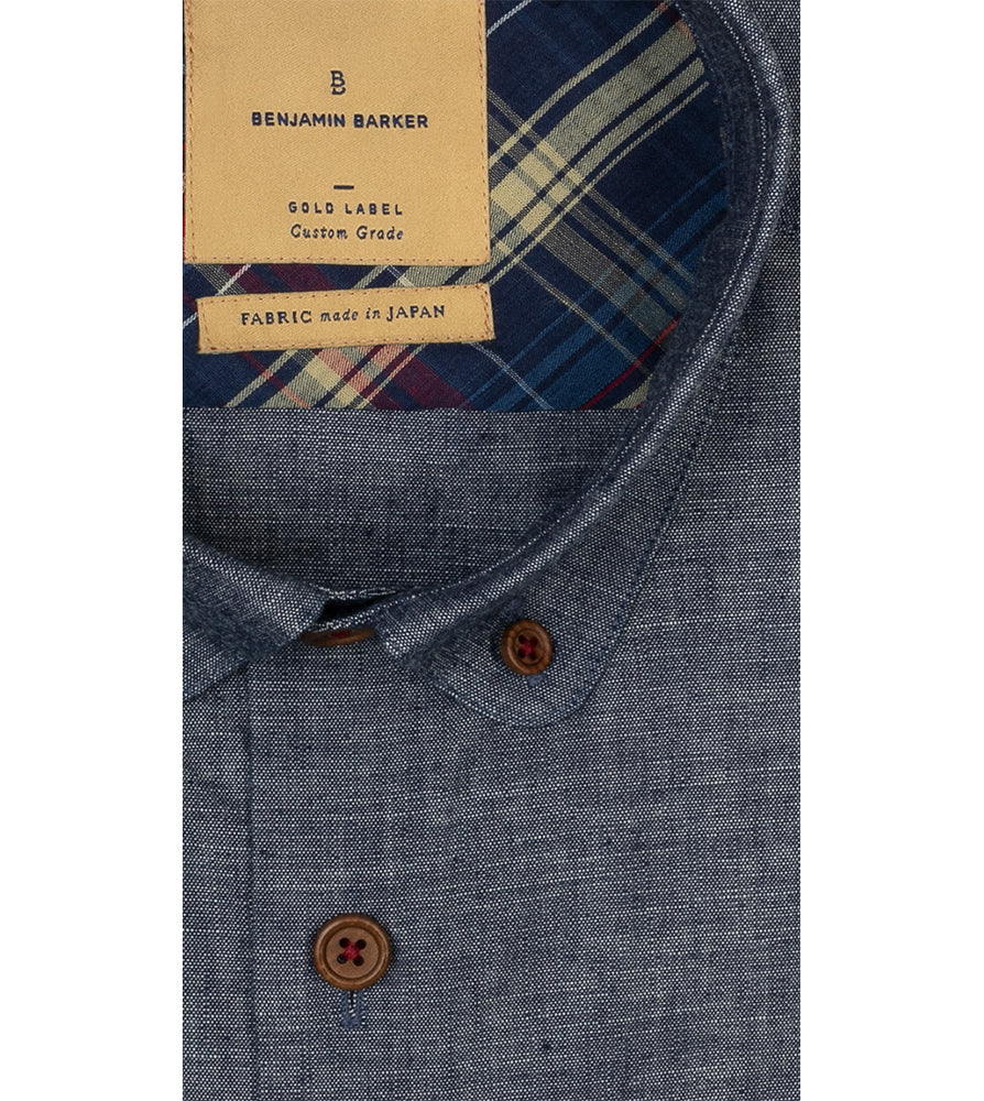Bermondsey Chambray Cyclist Shirt Collar