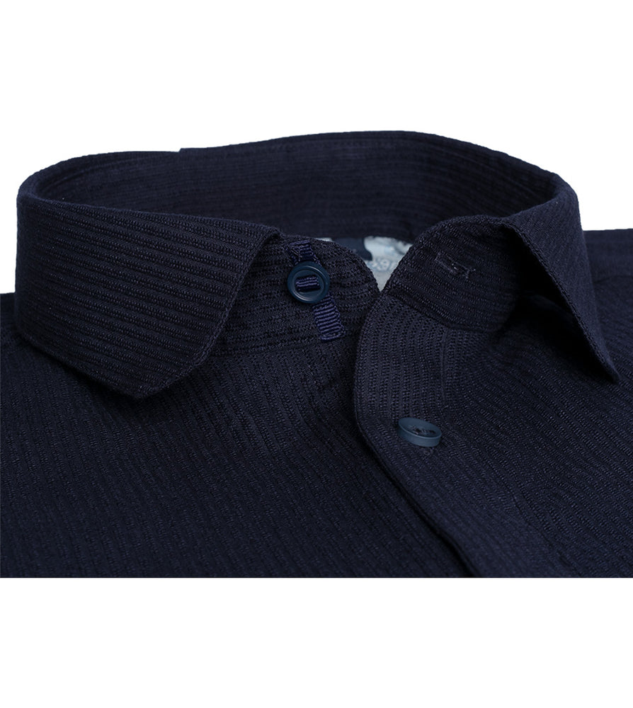 Load image into Gallery viewer, Ashbridge Textured Stripe Shirt Collar Button