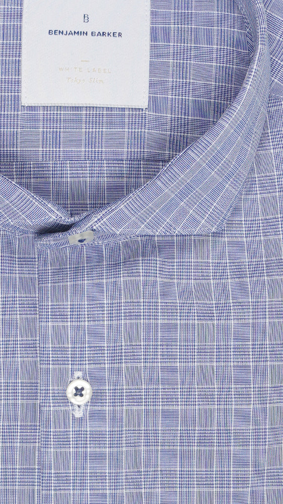 Birkbeck Hill Glen Check Shirt Collar