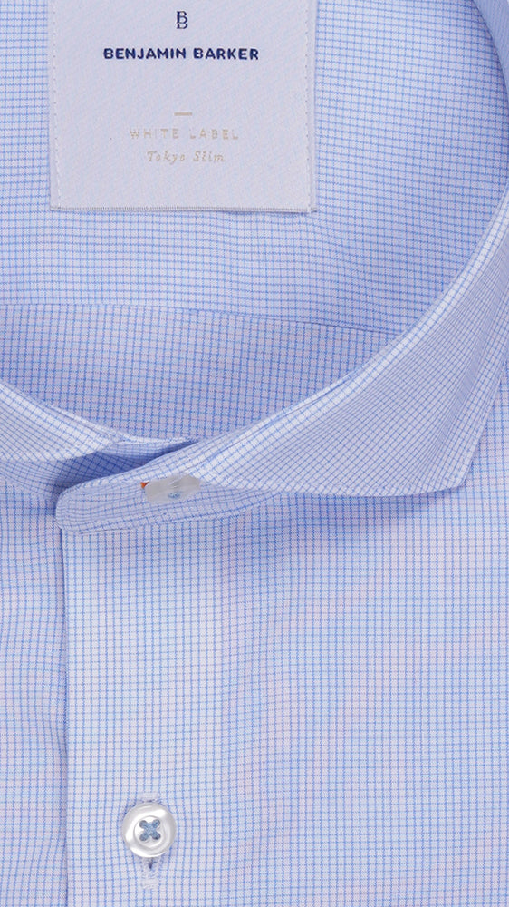 Load image into Gallery viewer, Westbridge Graph Check Shirt Collar