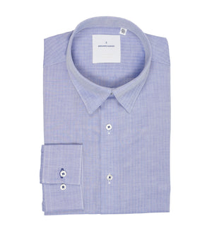 Load image into Gallery viewer, Barnabas Blue Chevron Shirt Folded