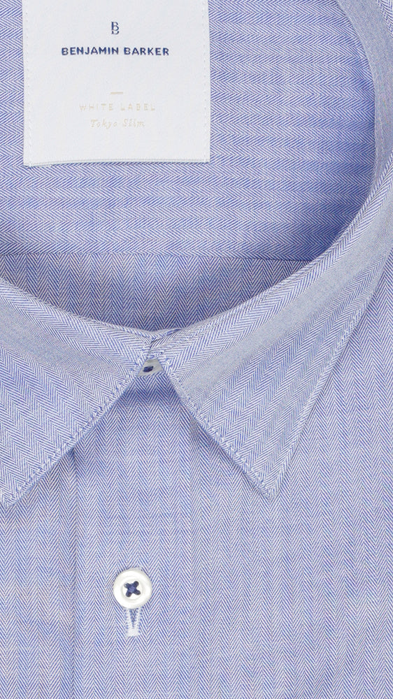 Barnabas Blue Chevron Shirt Collar