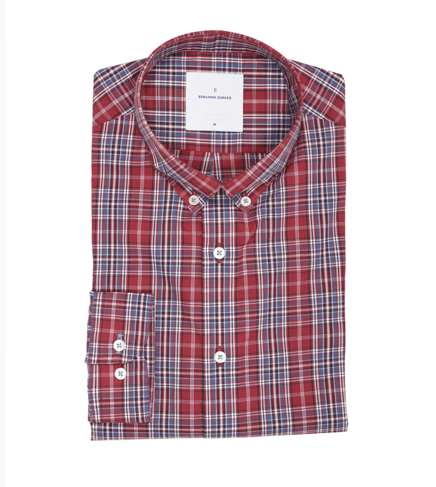 Betton Park Plaid Shirt Folded