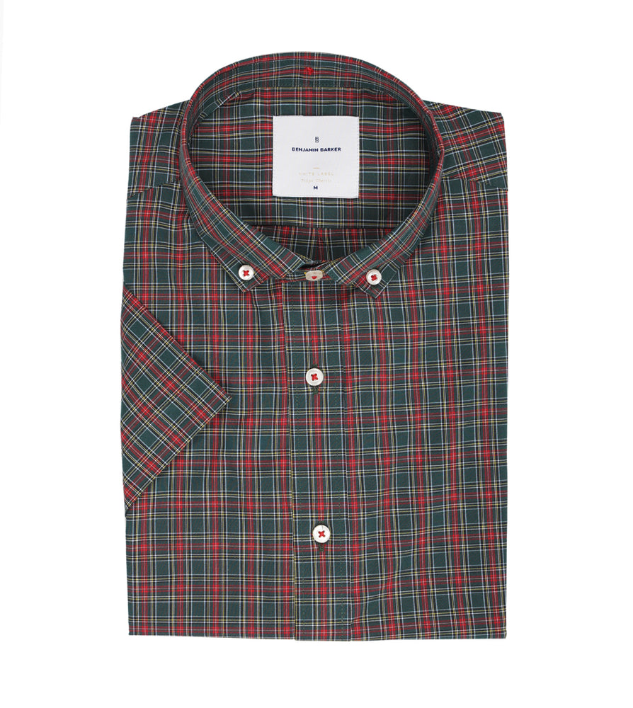 Load image into Gallery viewer, Braidwood Cottage Plaid Shirt Folded