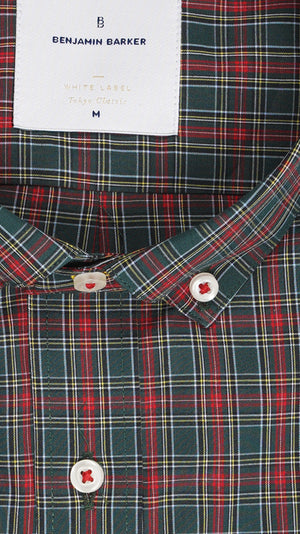 Load image into Gallery viewer, Braidwood Cottage Plaid Shirt Collar