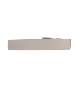 Load image into Gallery viewer, Tie Clip In Silver Front