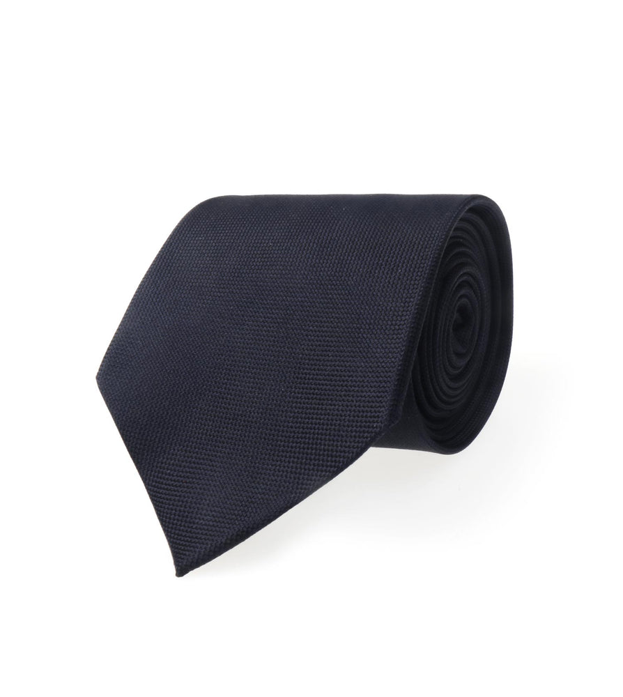 Oxford Tie Navy Oxford Weave Full