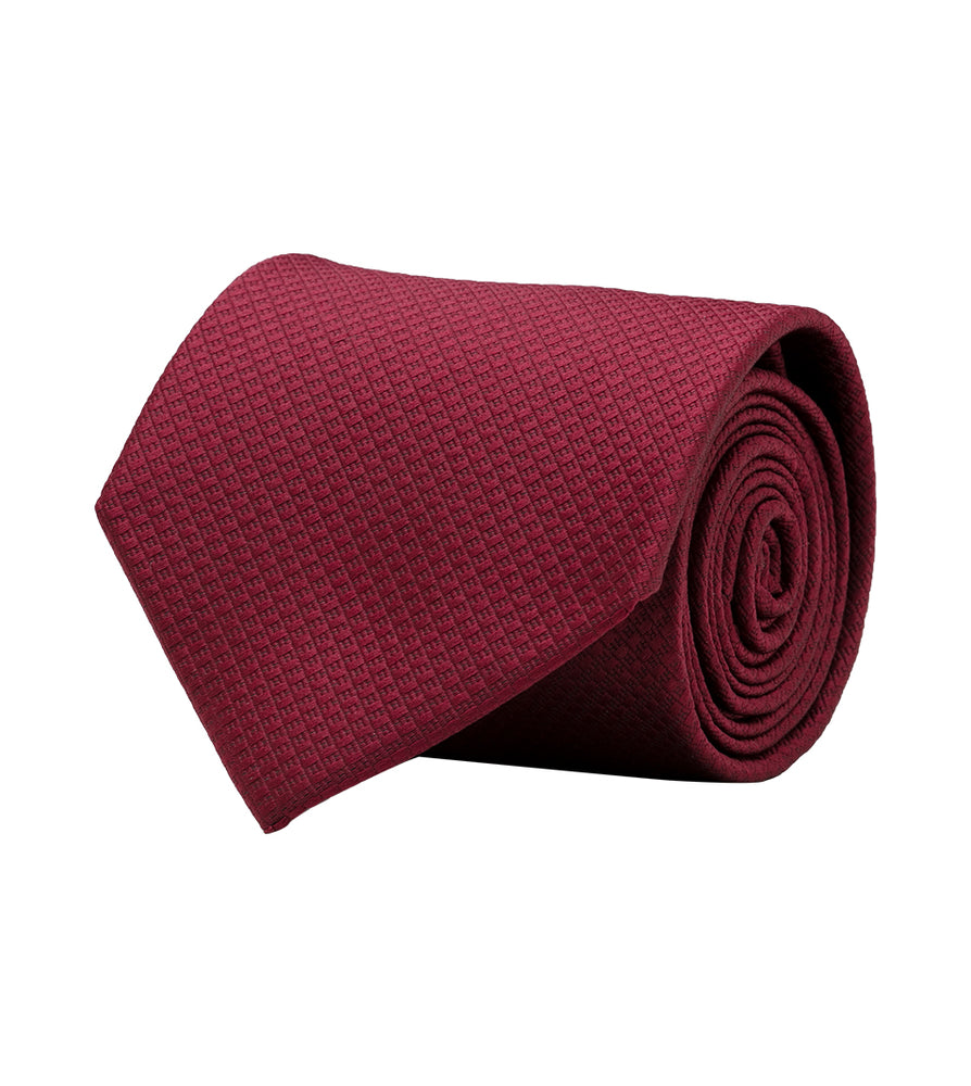 Lattice Weave Oxford Tie In Maroon Full