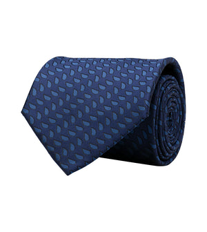 Load image into Gallery viewer, Oxford Teardrop Tie In Indigo Full