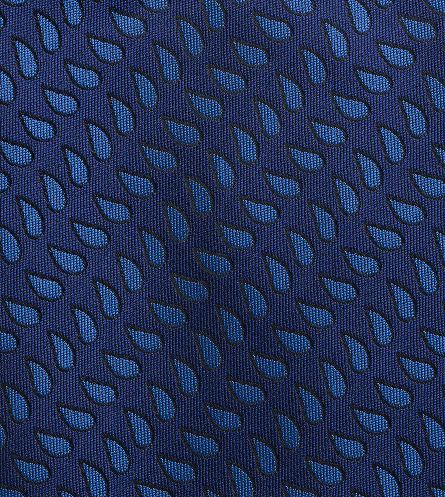 Load image into Gallery viewer, Oxford Teardrop Tie In Indigo Fabric