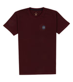 Washed Cotton Tee in Maroon Full