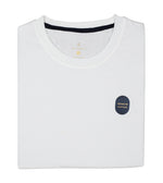 Washed Cotton Tee in White Folded