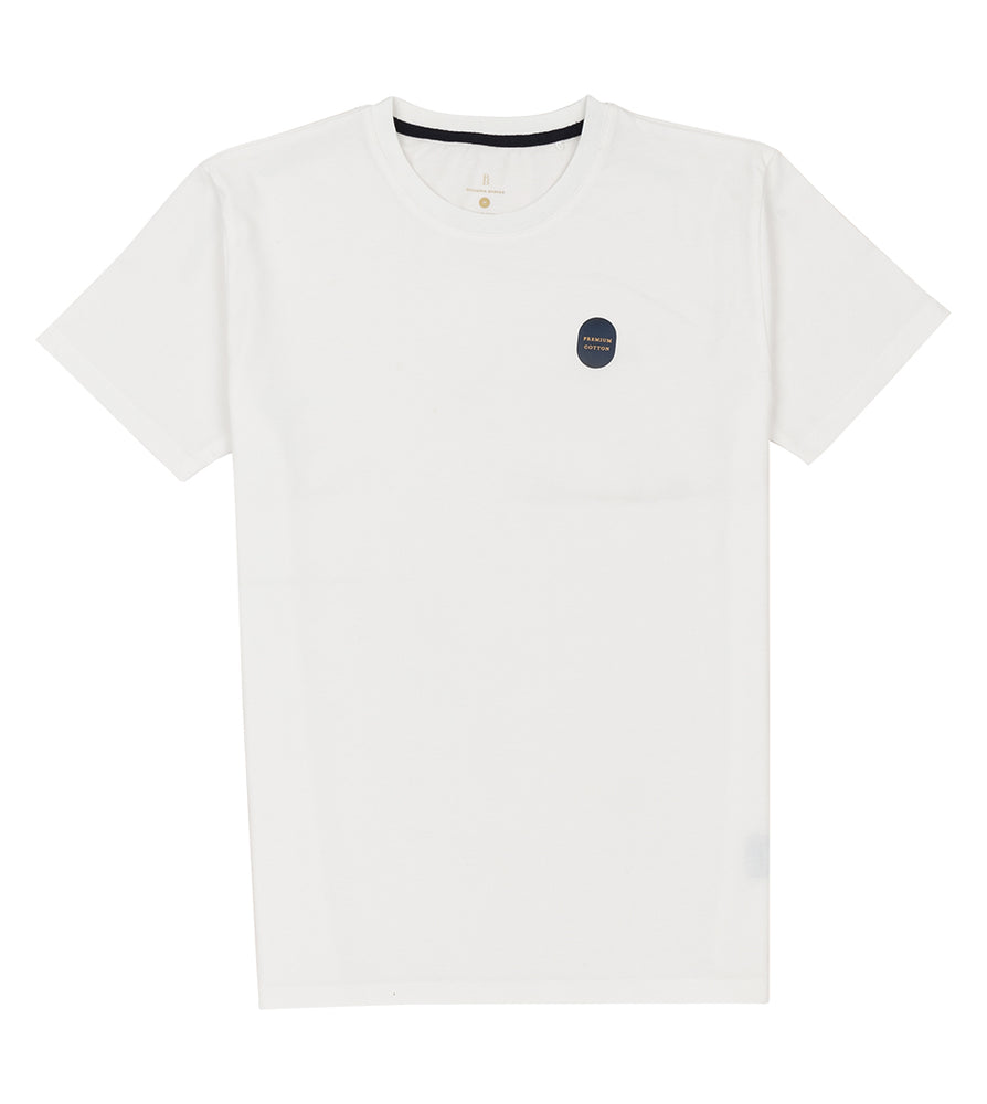 Washed Cotton Tee in White Full