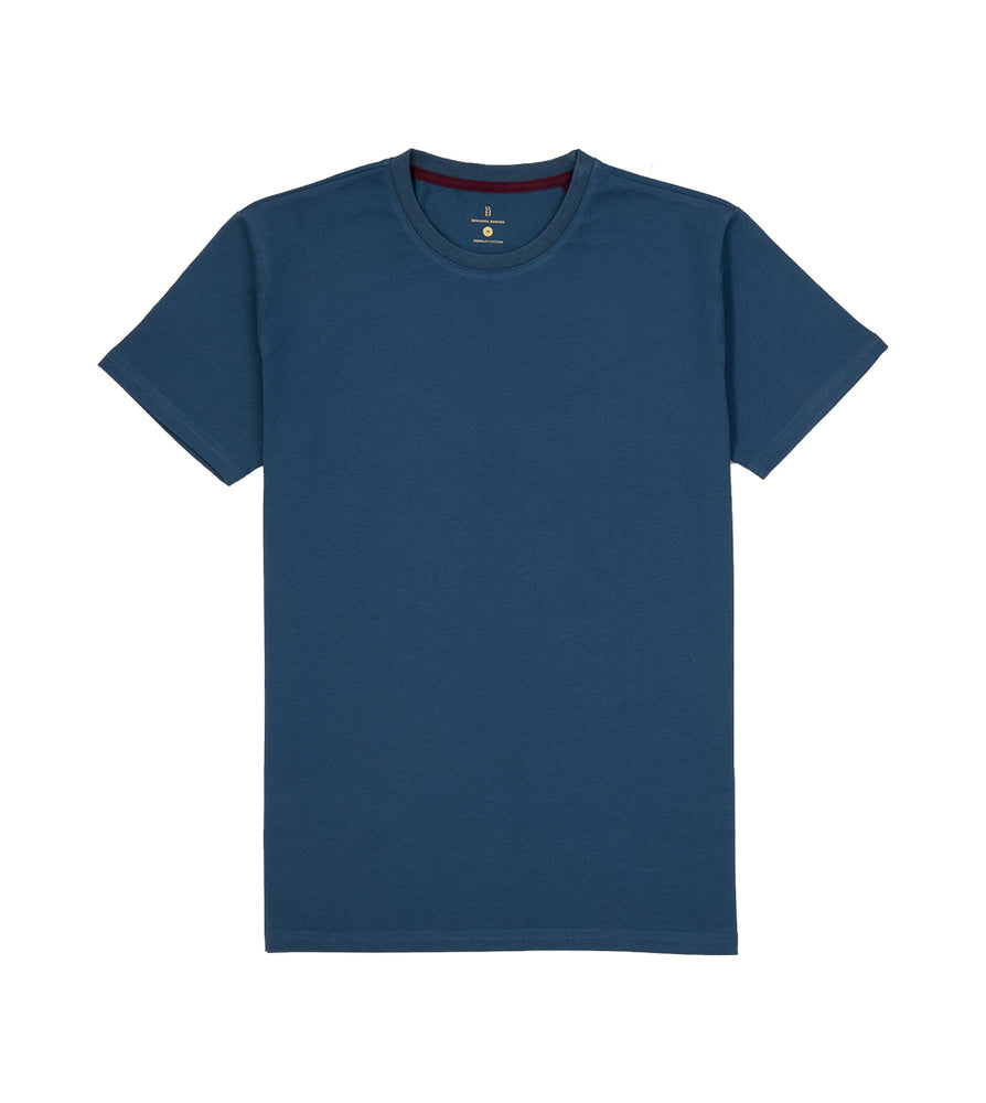Washed Cotton Tee in Petrol Full