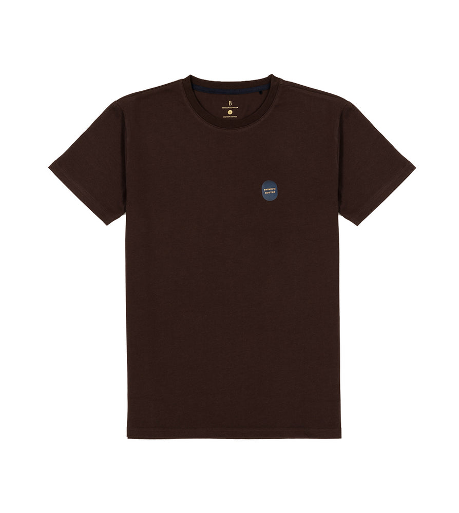 Load image into Gallery viewer, Washed Cotton Tee in Dark Brown Full