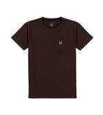Washed Cotton Tee in Dark Brown Full