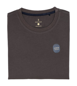 Load image into Gallery viewer, Washed Cotton Tee in Dark Grey Folded