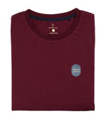 Washed Cotton Tee in Maroon Folded