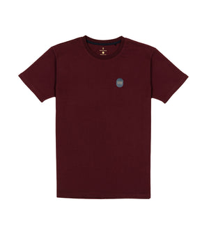 Load image into Gallery viewer, Washed Cotton Tee in Maroon Full