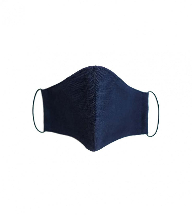 Tangier Textured Blue Face Masks Full